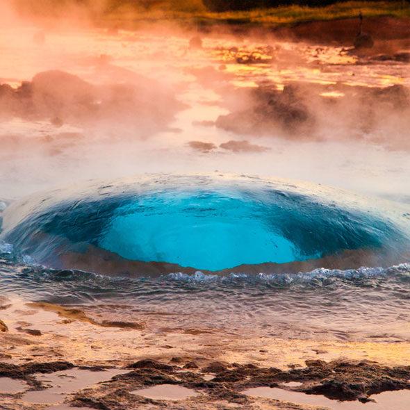 Heiße Quelle auf Island